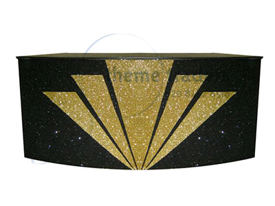 Art Deco Glitter Bar Props, Prop Hire