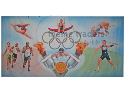 Olympic Games Backdrop Props, Prop Hire
