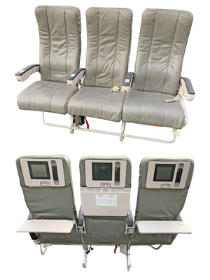 Triple Aircraft Seats Props, Prop Hire