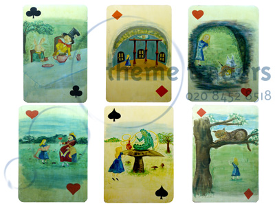 Alice Playing Cards oversize Props, Prop Hire
