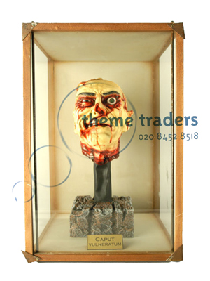 Zombie Head in Display Case Props, Prop Hire