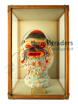 Alien Head in Display Case Props, Prop Hire