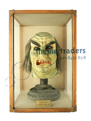 Troll Head in Display Case Props, Prop Hire
