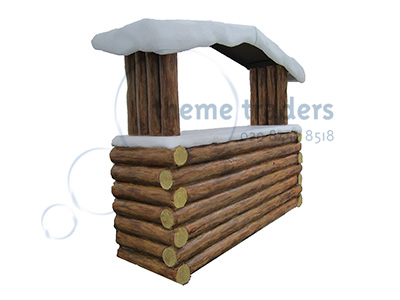 Alpine Log Bar Props, Prop Hire