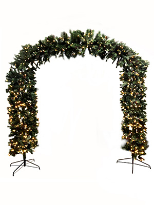 Christmas Tree Arch Props, Prop Hire