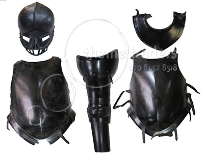 Black Armour Assorted Pieces Props, Prop Hire