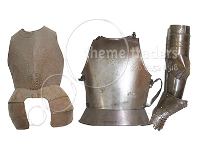 Metal Armour Assorted Pieces Props, Prop Hire