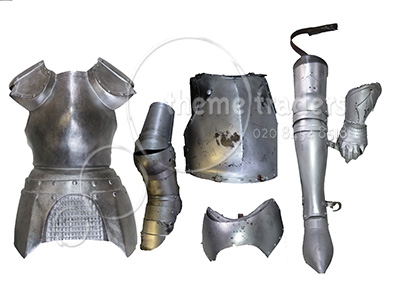 Silver Armour Assorted Pieces Props, Prop Hire