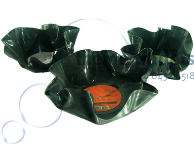 Vinyl Melted Ashtray Props, Prop Hire