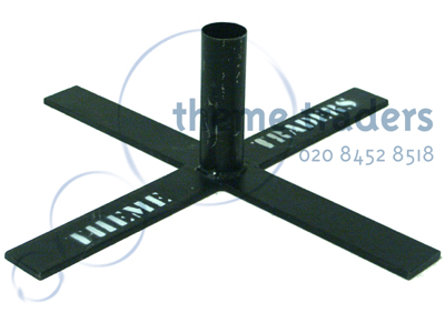 Base Cross for aluminium rigging Props, Prop Hire