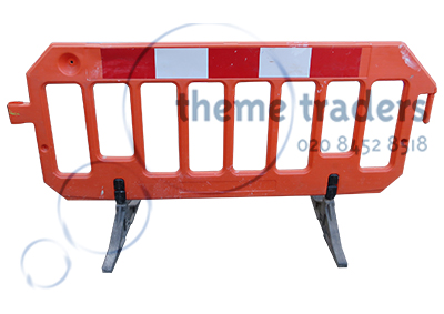 Plastic Orange Barriers Props, Prop Hire