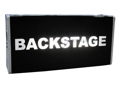 Backstage Signs Props, Prop Hire