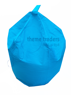 Blue bean bag Props, Prop Hire