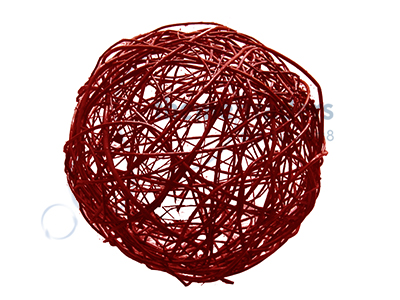 Red Wicker Ball small Props, Prop Hire