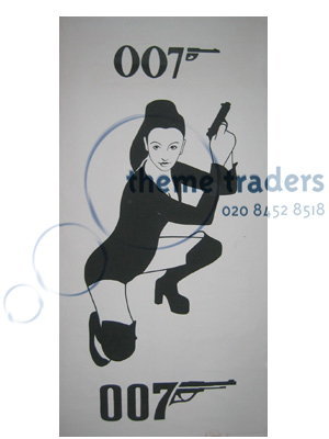 Bond Girl Banners Props, Prop Hire
