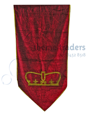 Heraldic Banners - Small Red Props, Prop Hire