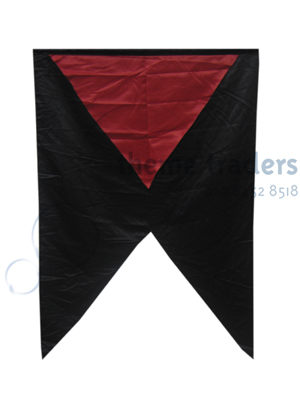 Red on Black Banner - Small Props, Prop Hire