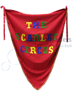 Scarlet Circus Banners Props, Prop Hire