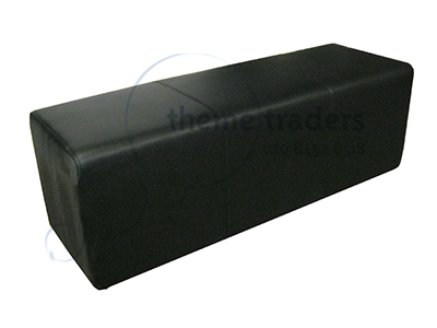 Black Banquette Seating Props, Prop Hire