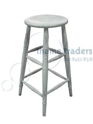 Whitewashed Bar Stools Props, Prop Hire