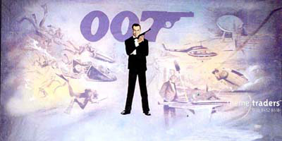 Sean Connery 007 Backdrops Props, Prop Hire