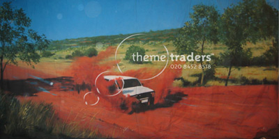safari outback Backdrops Props, Prop Hire