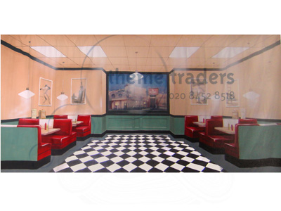 Diner Backdrops Props, Prop Hire