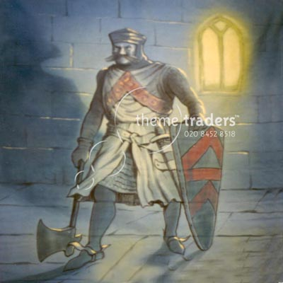 Knight in Armour Backdrops Props, Prop Hire