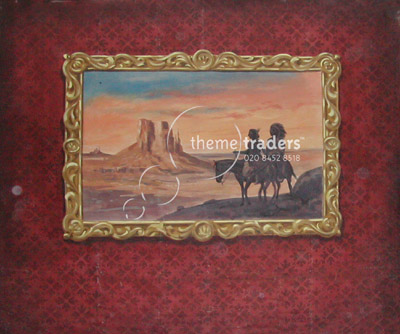 American Indian Painting Backdrops Props, Prop Hire