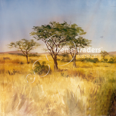 African Savannah Backdrops Props, Prop Hire