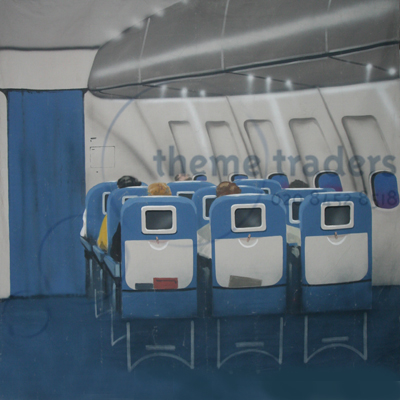 Plane interior backdrop hire Props, Prop Hire