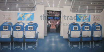 Airline Interior Backdrops Props, Prop Hire