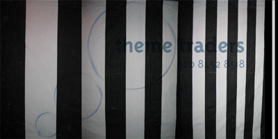 Black and White Stripes Optical Backdrops Props, Prop Hire