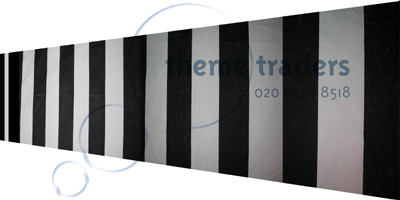 Black and White Optical Ceiling Backdrops Props, Prop Hire