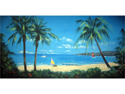 tropical Backdrops hire Props, Prop Hire