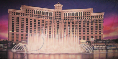 Bellagio Hotel in Las Vegas Backdrops Props, Prop Hire