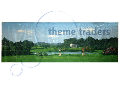 Country House Garden Backdrops Props, Prop Hire