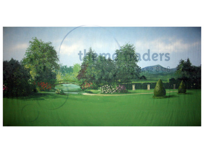Garden Backdrops Props, Prop Hire