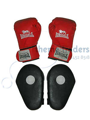 Boxing Gloves and Pads Props, Prop Hire