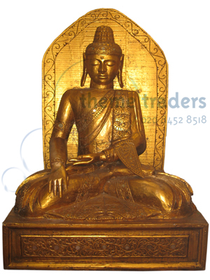 Buddha Sitting on Throne Statues Props, Prop Hire