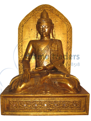 Buddha on Throne Statues Props, Prop Hire