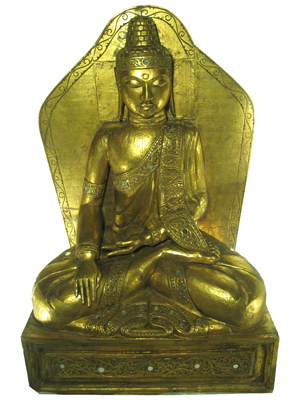 Legs folded Buddhas Statues Props, Prop Hire