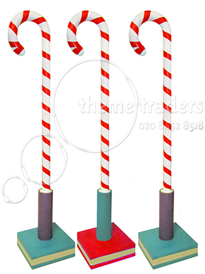 Oversize Candy Canes Props, Prop Hire