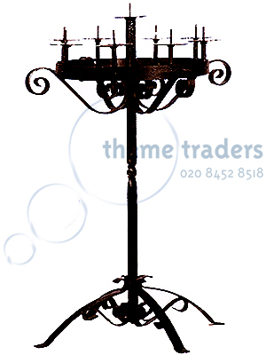 Candelabras wrought iron Props, Prop Hire
