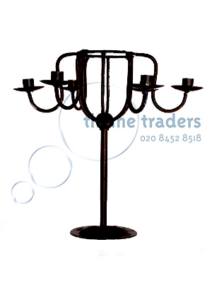 Lowered Arms Black Candelabras Props, Prop Hire