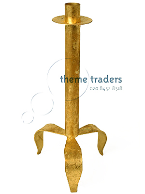 Gold Candle Sticks Props, Prop Hire