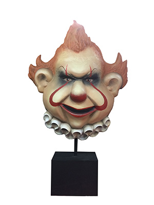 Scary Clown Mask Statue Props, Prop Hire