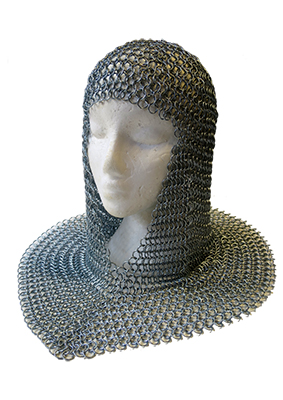 Knight Chainmail Coif Props, Prop Hire