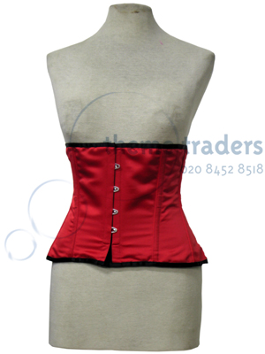 Red Underbust Corsets Props, Prop Hire