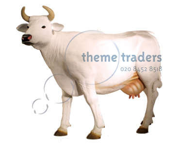 White Cow Statues Props, Prop Hire